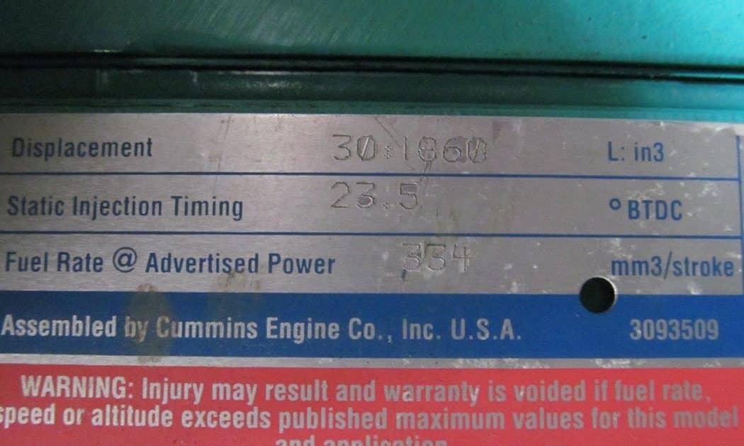 2001 Cummins 800 kW